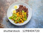 stir fry snow peas with pumpkin ... | Shutterstock . vector #1298404720
