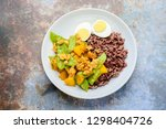 stir fry snow peas with pumpkin ... | Shutterstock . vector #1298404726