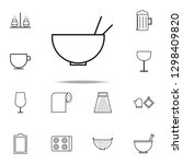 a bowl icon. kitchen icons... | Shutterstock .eps vector #1298409820