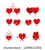 happy valentine's day card.... | Shutterstock .eps vector #1298412556