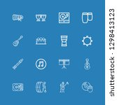 editable 16 song icons for web... | Shutterstock .eps vector #1298413123