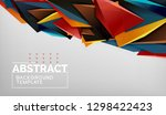 3d geometric triangular shapes... | Shutterstock .eps vector #1298422423
