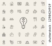 bulb sign icon. automation...   Shutterstock .eps vector #1298424919