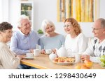 group of happy older people... | Shutterstock . vector #1298430649