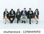 business team with clipboards... | Shutterstock . vector #1298449093