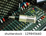 microphone and the mixing desk... | Shutterstock . vector #129845660