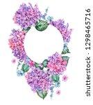 summer watercolor vintage... | Shutterstock . vector #1298465716