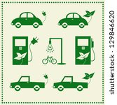 set of eco cars icons  vector... | Shutterstock .eps vector #129846620