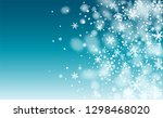 realistic snowflakes background.... | Shutterstock .eps vector #1298468020