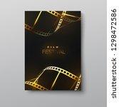 film festival banner. vector... | Shutterstock .eps vector #1298472586