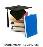 a graduating degree in school... | Shutterstock . vector #129847733