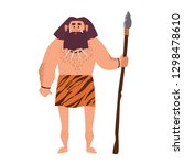 primitive archaic man wearing... | Shutterstock .eps vector #1298478610