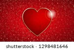 the valentine s day background... | Shutterstock .eps vector #1298481646