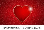 the valentine s day background... | Shutterstock .eps vector #1298481676