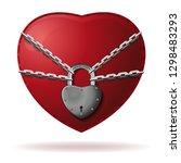 heart is locked. heart is... | Shutterstock .eps vector #1298483293