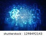 2d illustration medicine... | Shutterstock . vector #1298492143