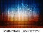 2d rendering stock market... | Shutterstock . vector #1298494990
