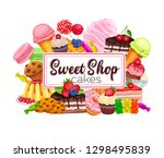 confectionery and sweet banner. ... | Shutterstock .eps vector #1298495839