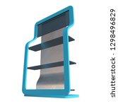 showcase displays retail... | Shutterstock . vector #1298496829
