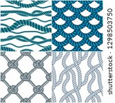 rope seamless patterns set ... | Shutterstock .eps vector #1298503750