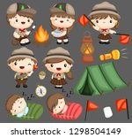 a vector collection of boy and... | Shutterstock .eps vector #1298504149