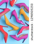 high heels. top view different... | Shutterstock . vector #1298505253