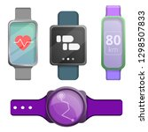 fitness tracker icons set.... | Shutterstock .eps vector #1298507833