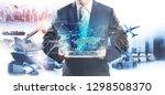 distribution of logistics... | Shutterstock . vector #1298508370