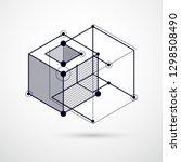 abstract vector composition... | Shutterstock .eps vector #1298508490