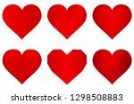 heart icons set. symbol of love.... | Shutterstock .eps vector #1298508883