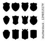 heraldic shield silhouettes... | Shutterstock .eps vector #1298515279
