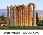 the temple of olympian zeus or... | Shutterstock . vector #1298515399