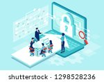 cyber security concept.... | Shutterstock .eps vector #1298528236