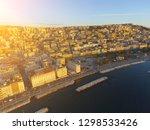 naples  italy. aerial cityscape ... | Shutterstock . vector #1298533426