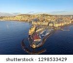 naples  italy. aerial cityscape ... | Shutterstock . vector #1298533429