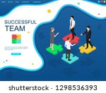 successful teamwork concept... | Shutterstock .eps vector #1298536393