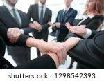 closeup. business team showing...   Shutterstock . vector #1298542393