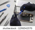 technician or engineer... | Shutterstock . vector #1298542570