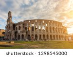 the colosseum or coliseum ... | Shutterstock . vector #1298545000