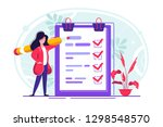 positive business woman with a...   Shutterstock .eps vector #1298548570