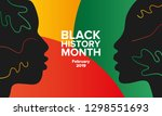 african american history or... | Shutterstock .eps vector #1298551693