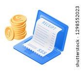 the laptop  online receipt bill ... | Shutterstock . vector #1298552023