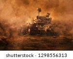 Mars Rover Exploring Surface O...