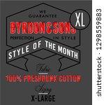 slogan print for t shirt... | Shutterstock .eps vector #1298559883