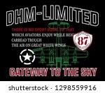 slogan print for t shirt... | Shutterstock .eps vector #1298559916