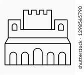 outline alhambra granada vector ... | Shutterstock .eps vector #1298565790