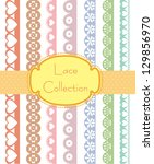straight lace collection.... | Shutterstock .eps vector #129856970