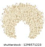brown blonde trendy curly  ... | Shutterstock .eps vector #1298571223