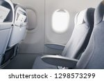 airline passenger seat and side ... | Shutterstock . vector #1298573299
