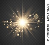 glowing light stars with... | Shutterstock .eps vector #1298578306